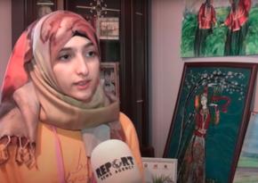 Azərbaycanlı gənc rəssam Gəncə terrorunu tabloya köçürür