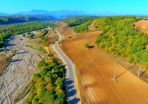 Yeni Xınalıq yolunun bir hissəsinin inşası başa çatıb