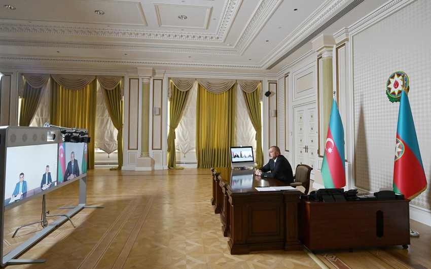 Ilham Aliyev receives new chief executives