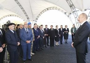 Azərbaycan Prezidenti: Uzun illərdən sonra bu Qələbə sevincini biz hamımız yaşadıq