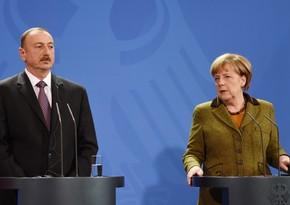 Angela Merkel Azərbaycan Prezidentinə telefonla zəng edib