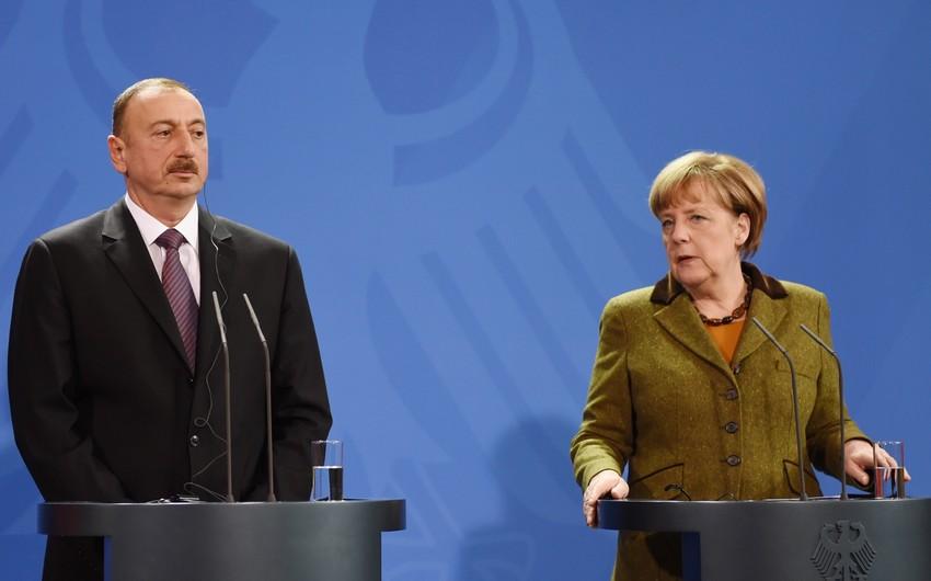 Angela Merkel phones President Ilham Aliyev