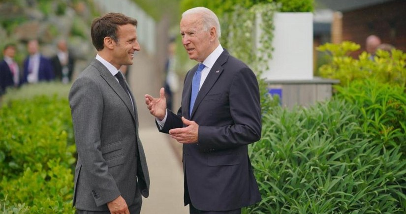 Biden, Macron support Japan's plan to host Tokyo Olympics