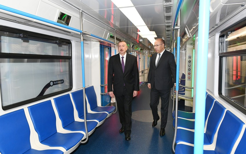 President Ilham Aliyev viewed work done at Khatai station of Baku Metro