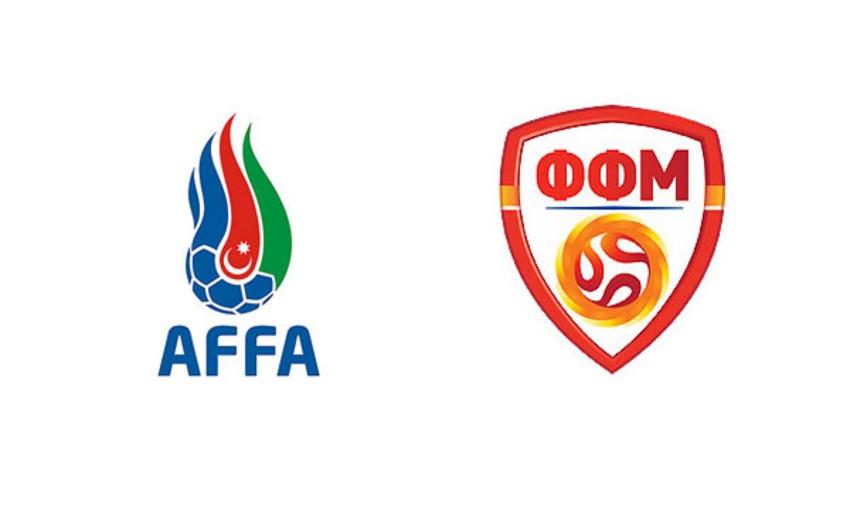 Обнародован стартовый состав для товарищеской встречи сборных Азербайджана и Македонии по футболу
