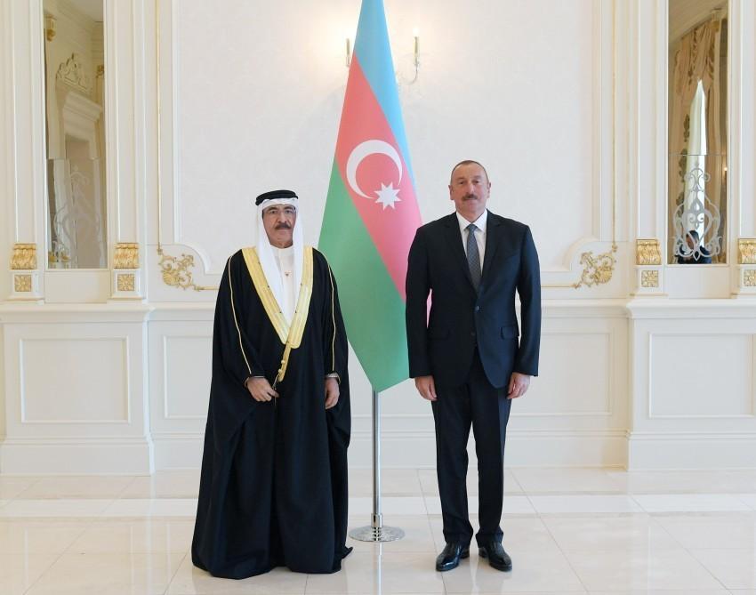 Президент принял верительные грамоты новоназначенного посла Королевства Бахрейн в Азербайджане