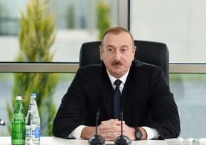 """Dövlət başçısı: """"Yaponiya şirkətlərini bərpaedilən enerji sahəsində görmək istəyirik"""""""