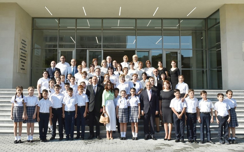 President Ilham Aliyev inaugurates new building of school-lyceum No 20 in Baku - UPDATED
