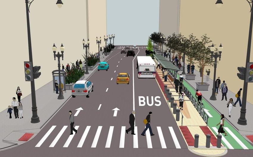 Bakı yollarında sərnişin avtobusları üçün xüsusi hərəkət zolaqları təşkil ediləcək