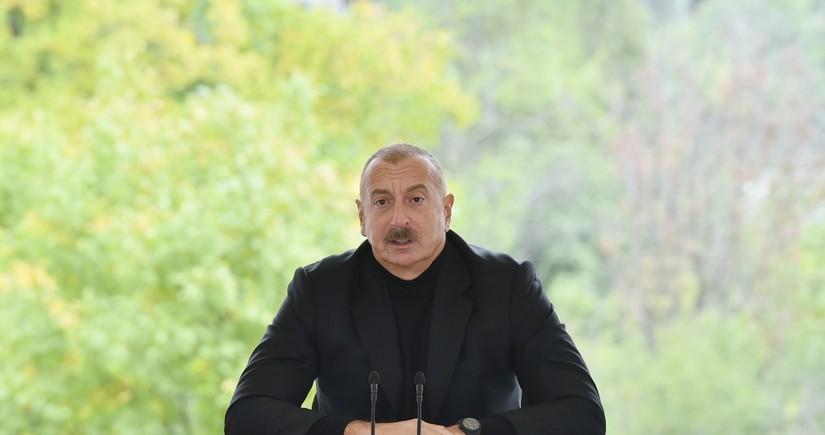 President Aliyev: Azerbaijani people's determination gave me strength