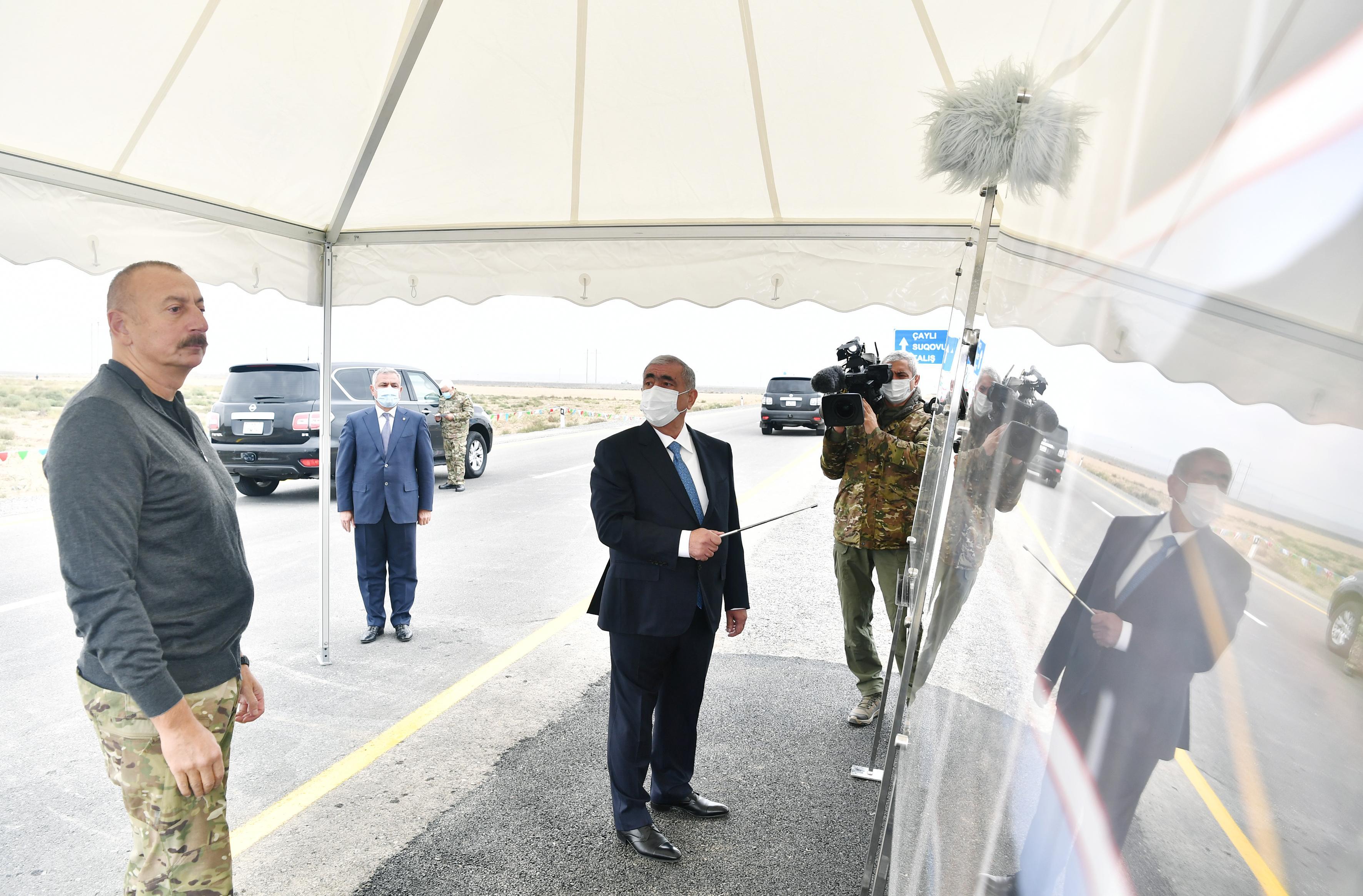 Prezident Suqovuşana və Talış kəndinə gedən avtomobil yollarının açılışını edib - YENİLƏNİB