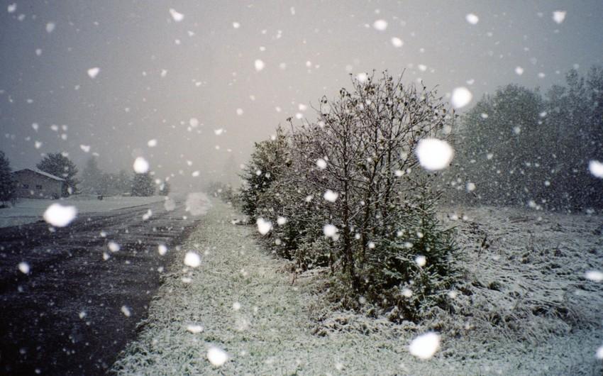 В первый день нового года в Азербайджане ожидается снег
