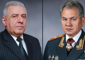 Rusiya və Ermənistanın müdafiə nazirləri arasında telefon danışığı olub