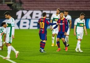 Messinin dublu Barselonaya qələbə qazandırdı