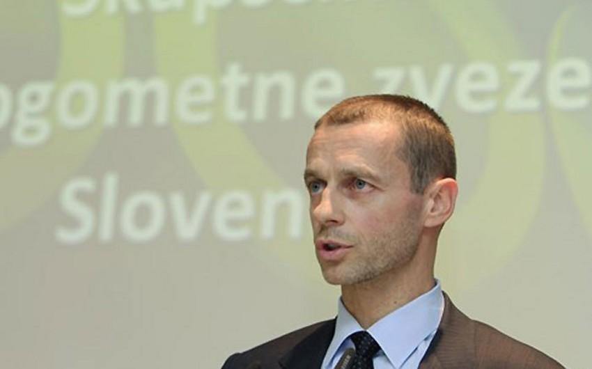 UEFA prezidenti Bakıya gəlib