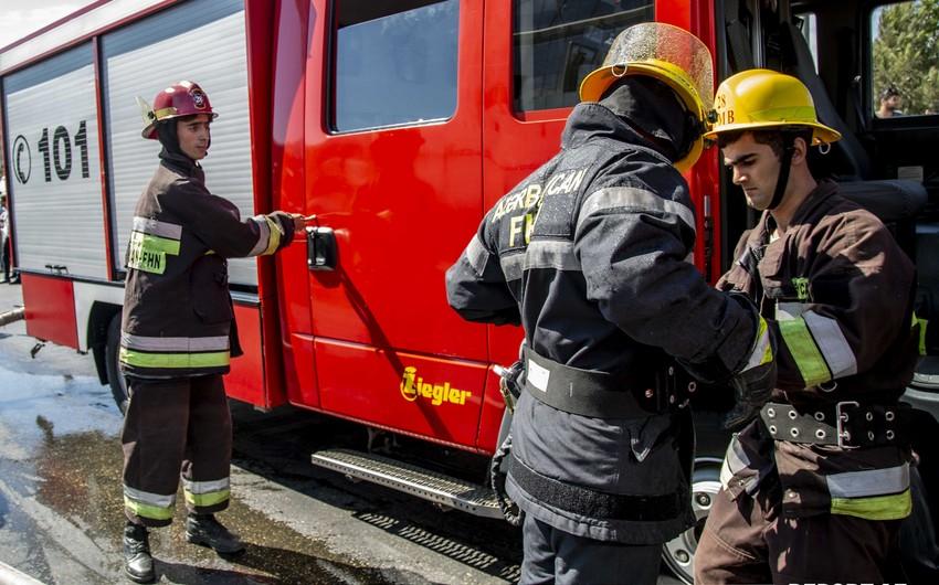 В Уджаре загорелся грузовой автомобиль