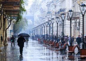 Завтра в Баку ожидаются дожди и сильный ветер