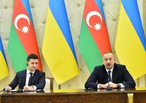 Prezident İlham Əliyev Volodimir Zelenskiyə başsağlığı verib