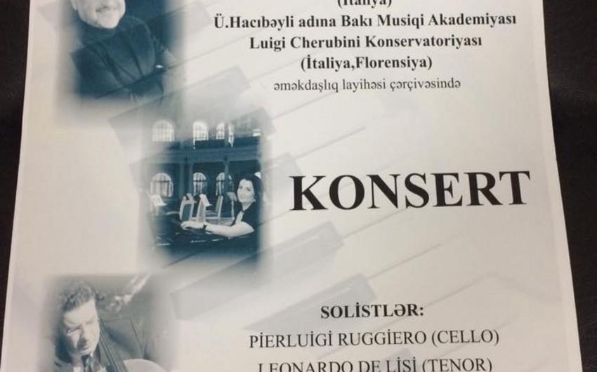 Baku will host concert of Italian classical music