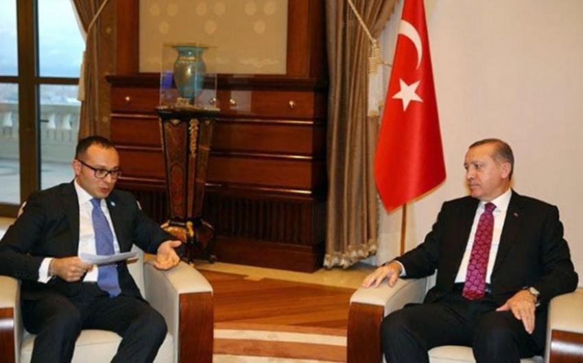 Türkiyə Prezidenti Ramil Həsənovla görüşüb
