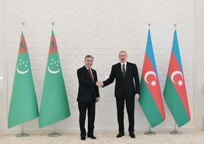 Гурбангулы Бердымухаммедов поздравил Ильхама Алиева