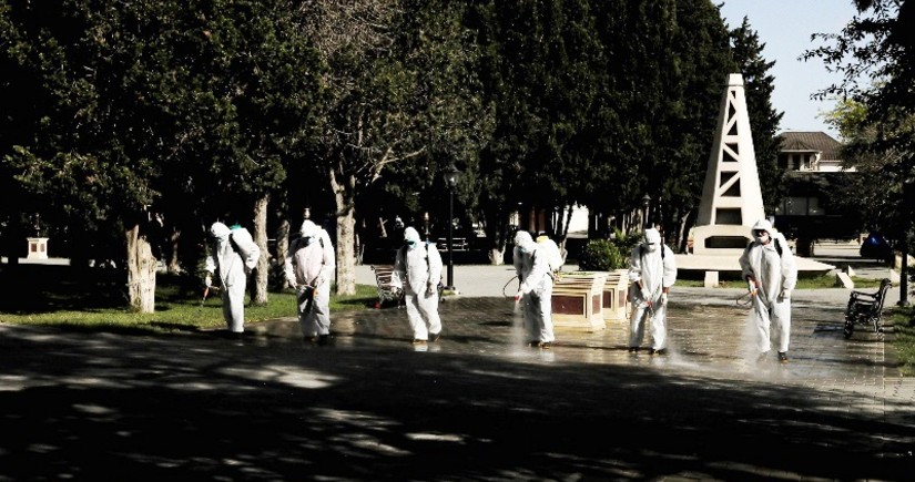 Bakıda 554 küçə dezinfeksiya edildi