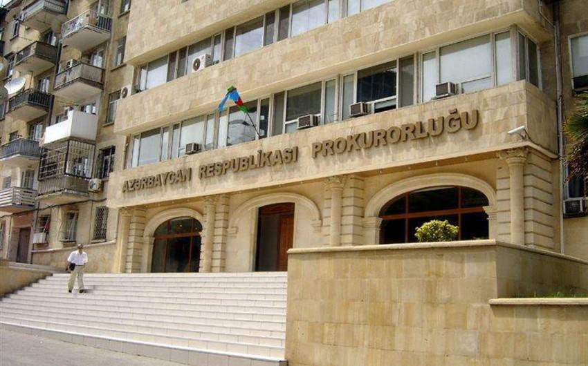Baş Prokurorluq DYP əməkdaşının yandırılması ilə bağlı açıqlama yayıb