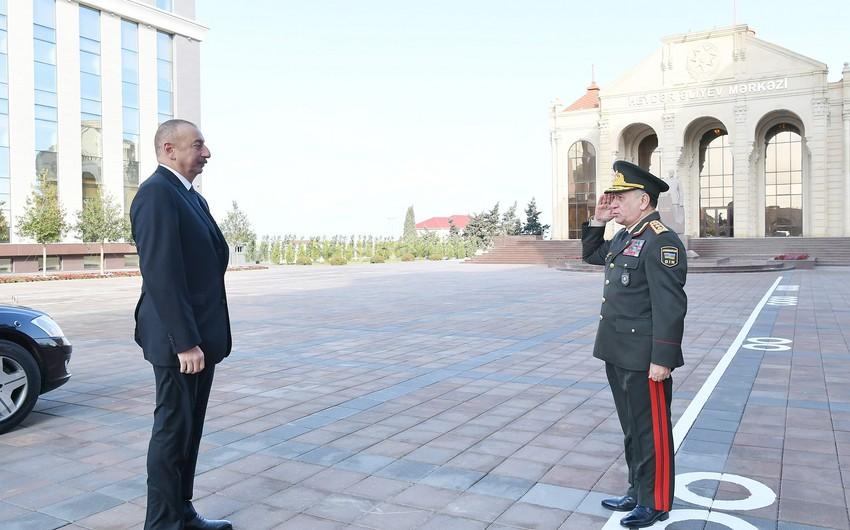 Prezident İlham Əliyev DİN-in Polis Akademiyasında yeni tədris binasının açılışında iştirak edib