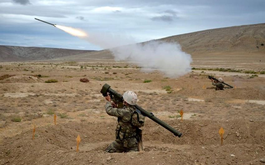 Azərbaycan ordusunun hava hücumundan müdafiə bölmələrinin təlimi keçirilib