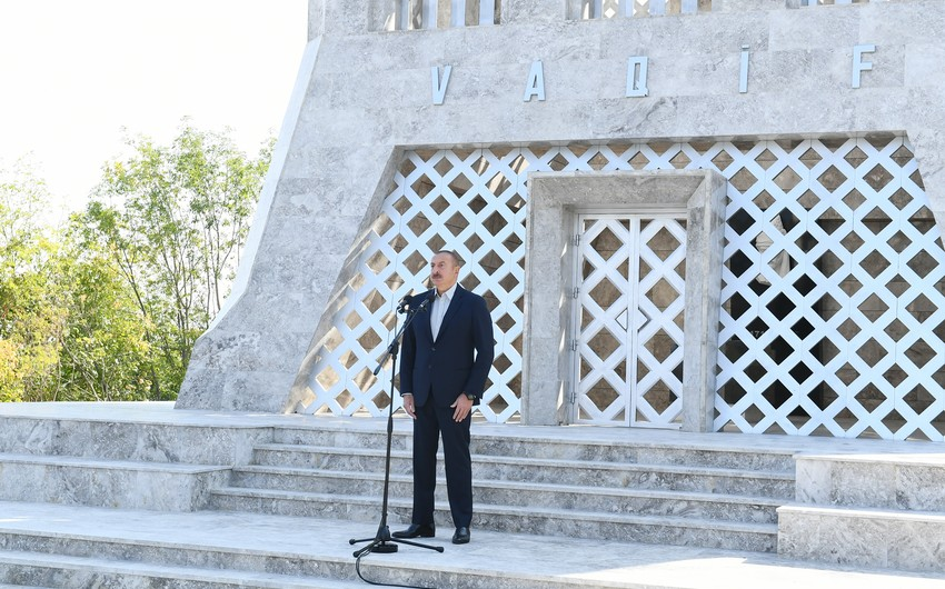 President of Azerbaijan: We are in Shusha today, and from now on, we will live in Shusha forever