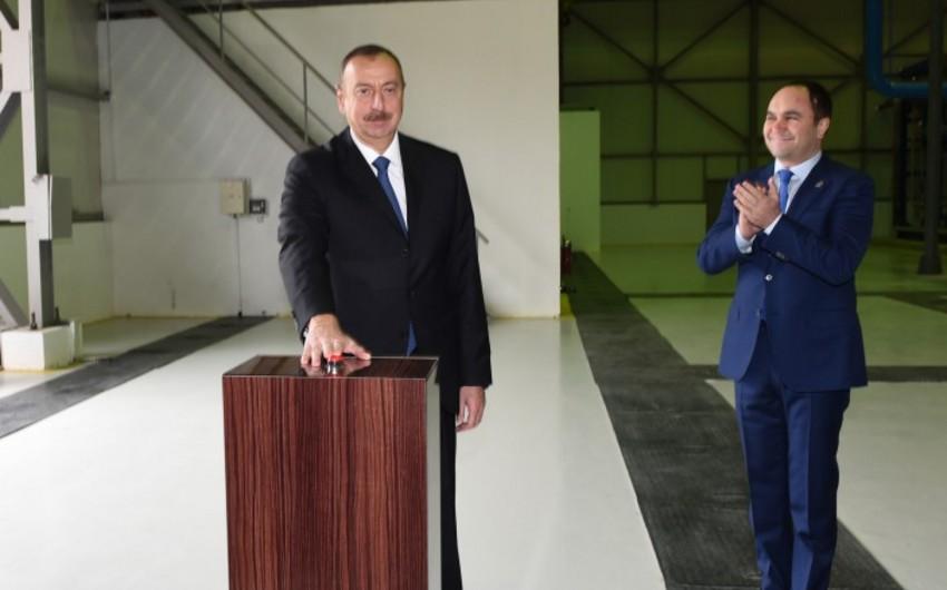 Prezident İlham Əliyev Bakıda oksigen zavodunun açılışında iştirak edib