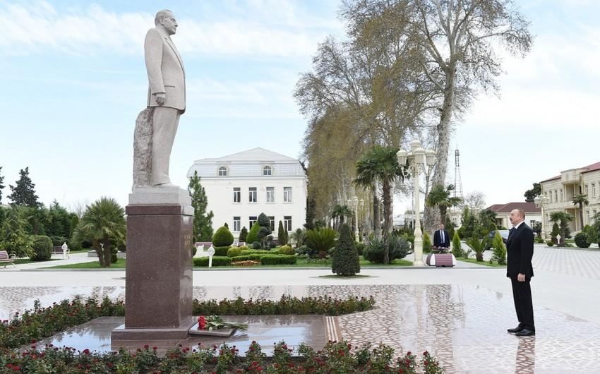 Azərbaycan Prezidenti Bərdə rayonuna səfər edib