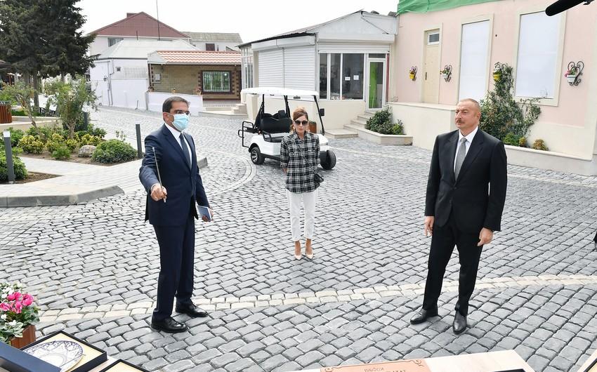 İlham Əliyev və Mehriban Əliyeva Balaxanıya getdi