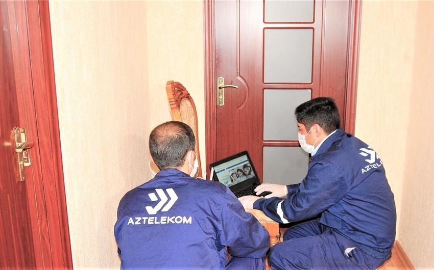 Biləsuvar rayonunda telekommunikasiya xidmətlərinin əhatə dairəsi genişləndirilir