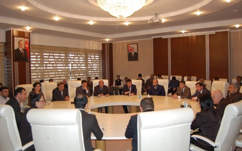 Neftçalada ''Dünyəvi dövlətdə din; Azərbaycan modeli'' mövzusunda tədbir keçirilib
