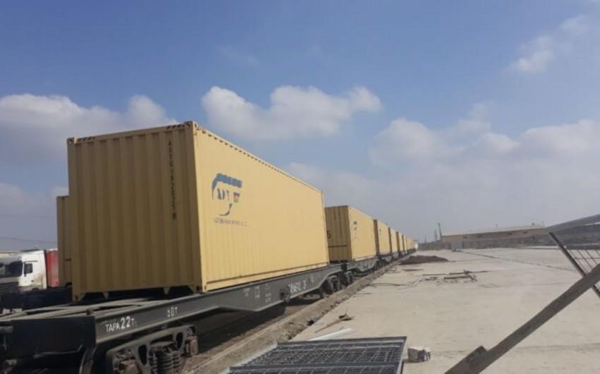 TURKUAZ layihəsi çərçivəsində ilk qatar yola düşüb