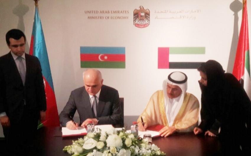 Azərbaycanla və Birləşmiş Ərəb Əmirlikləri arasında protokol imzalanıb