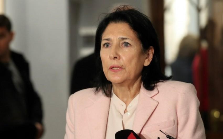 """Salome Zurabişvili: """"Gürcüstan NATO-ya gedən yolunu uğurla başa çatdıracaq"""""""