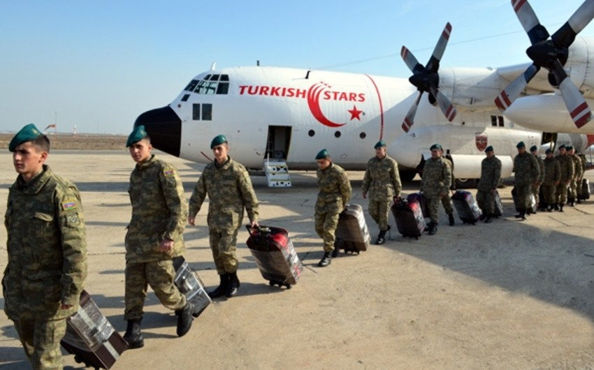 A group of Azerbaijani peacekeepers returned home from Afghanistan - PHOTO