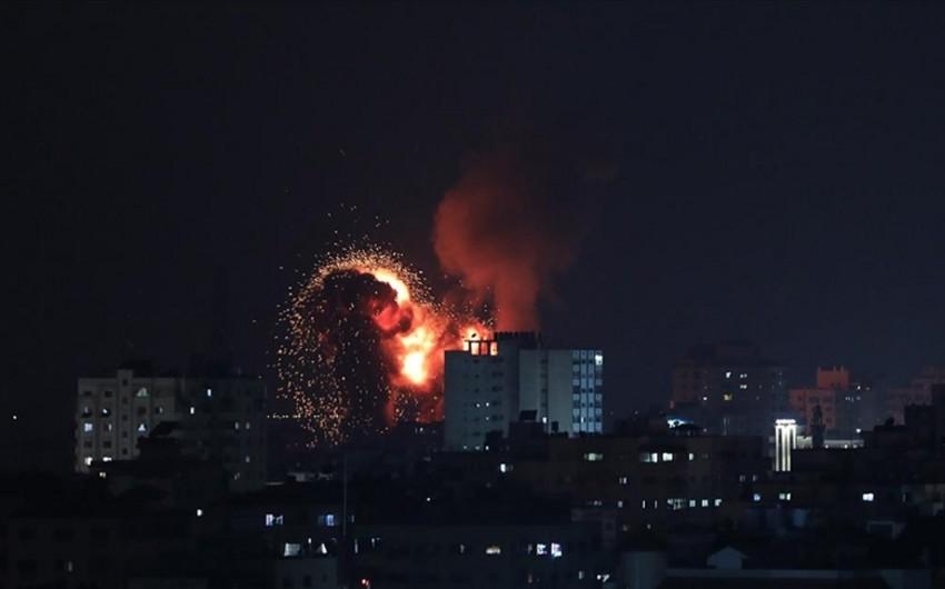 İsrailin Hərbi Hava Qüvvələri Qəzzaya zərbə endirib