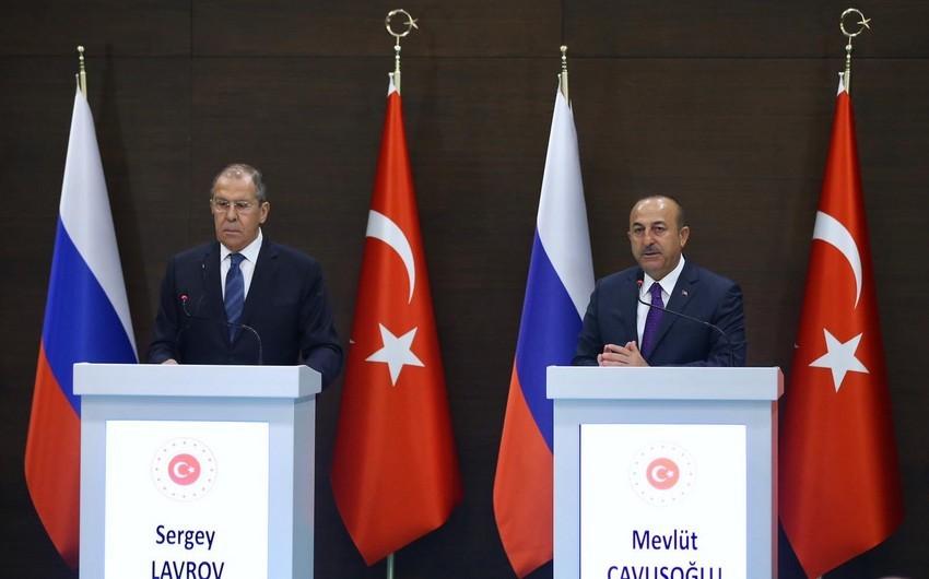 Çavuşoğlu və Lavrov Əfqanıstanda təhlükəsizliyi təmin etməyə çağırıb