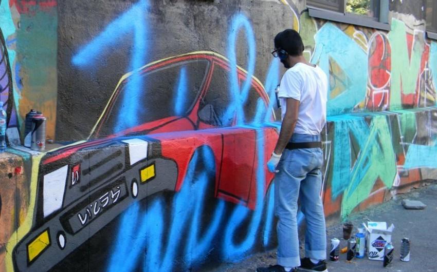 """Azərbaycanlı rəssamlar Tbilisidə """"Urban Art Festival""""ında iştirak edirlər"""