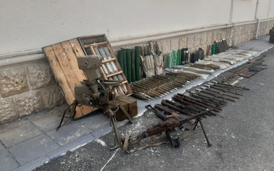 Weapons abandoned by Armenians during Patriotic War found in Fuzuli
