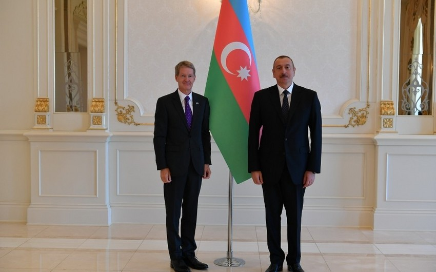 President Ilham Aliyev receives credentials of incoming Latvian and British ambassadors