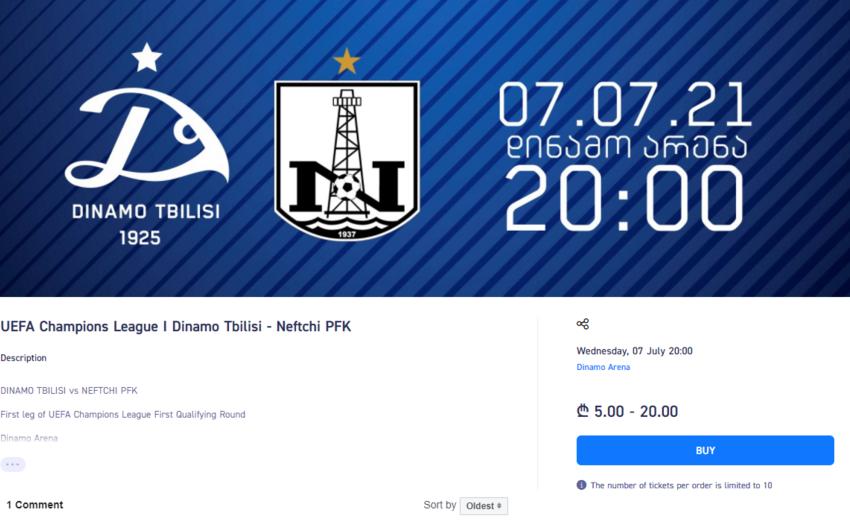"""""""Dinamo"""" - """"Neftçi"""" oyununun biletləri satışda"""