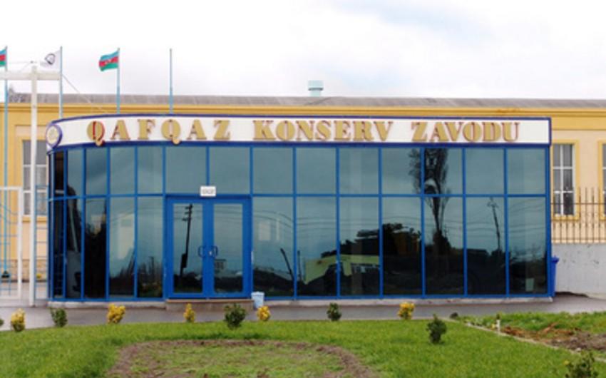 Xaçmazdakı Qafqaz Konserv Zavodu fəaliyyətini dayandırıb