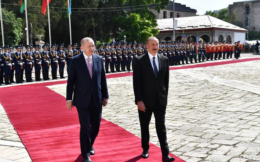 Azerbaijani president says Erdogan's Shusha visit was right of way