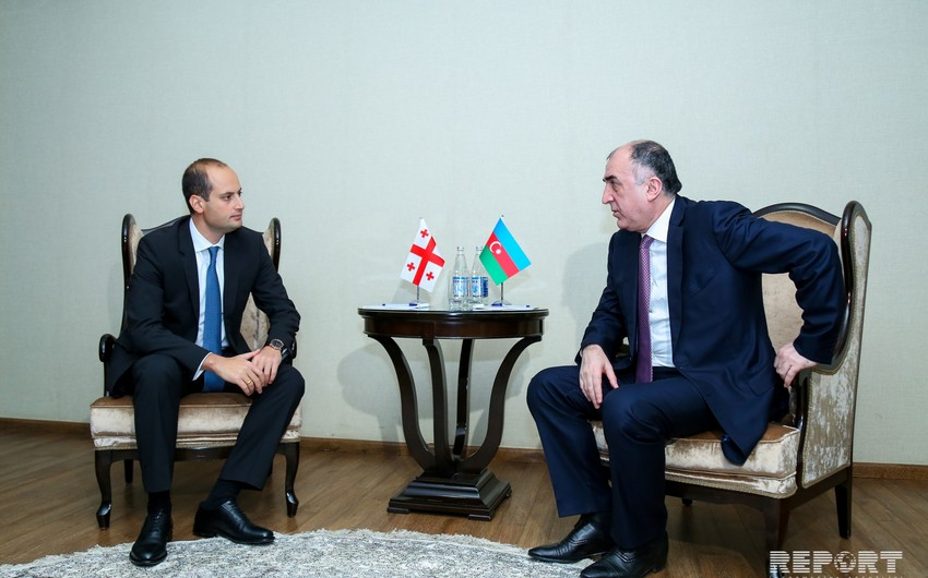 Azerbaijani Foreign Minister meeting with Georgian Foreign Minister