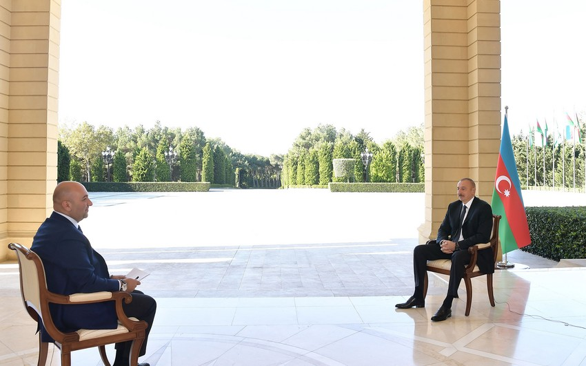 President Ilham Aliyev gives interview to Turkish Haber Turk TV channel