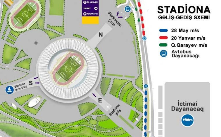 Baku Olympic Stadium appeals to fans amid Qarabag vs Chelsea match